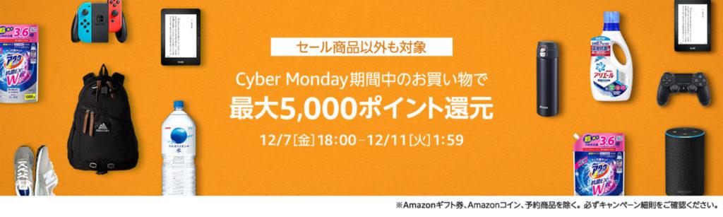 Amazonサイバーマンデーポイントアップ